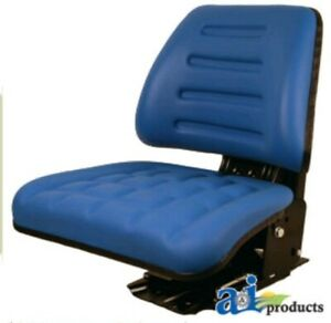 Seat Assembly Trapezoid Backed Vinyl Blue Ford 3230 3930 445 3430 545 4130 4630