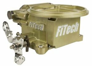 Fitech Fuel Injection 39001 Go Efi 2 barrel Throttle Body System 400 Hp Gold Fin