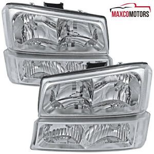 For 2003 2006 Chevy Silverado Headlights Signal Parking Bumper Lamps 03 04 05 06