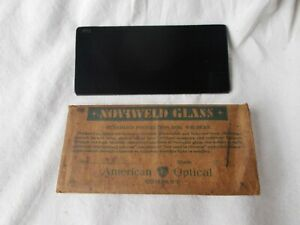 American Optical Company Noviweld Glass Shade Nw12 Welding Lens Lense 4 1 4 X 2