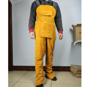 S l Cowhide Leather Aprons Welding Safety Workwear Welder Heat resistant Mm000