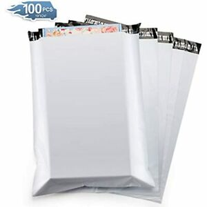 Metronic 100pc Large Shipping Bags White Poly Mailers 19x24 Envelopes With Self