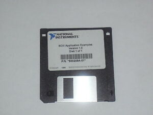 National Instruments Ni Scxi Application Examples Software 3 5 Floppy Disk 1995