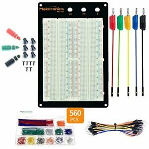 Solderless 1660 Breadboard Complete Kit Tie points Experiment Plug in With To