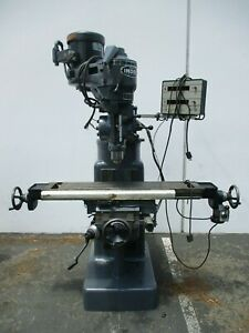 Wells Index Model 847 Vertical Mill Vari Speed Dro Servo Power Feed