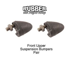 1959 1960 Ford Thunderbird Front Upper Suspension Bumpers Pair