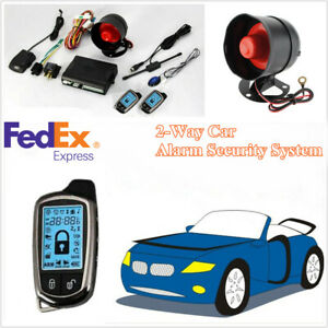 2 way Auto Car Alarm Security System W 2 Pcs Lcd Super Long Distance Controlers