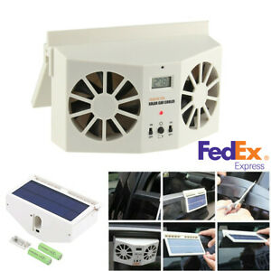 Solar Power Car Window Air Vent Ventilator Portable Air Conditioner Cooling Fan