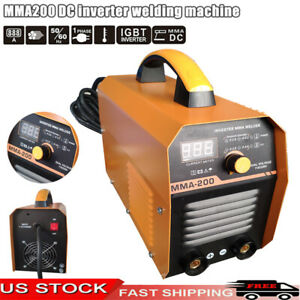 110v 220v Arc Welding Machine Mma 200 Amp Dc Inverter Welder Mini Handheld Igbt