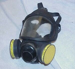 Nos Msa Respirator Full Face Model Bm 13a 17 Large W Organic Vapor Cartridges