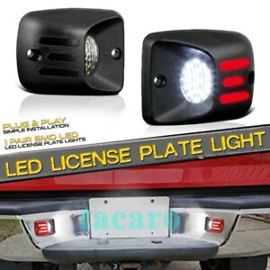 Red Neon Tube Rear Bumper Led License Plate Light Lamp For 95 04 Toyota Tacoma