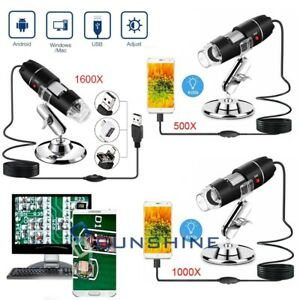 1000 1600x Digital 8 Led Usb Zoom Microscope Magnifier Endoscope Camera Stand