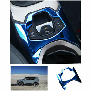 Blue Steel Central Console Electronic Handbrake Trim For Jeep Renegade 2015 2020