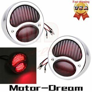 Stainless Steel Taillight Lamp Brake Light Rat Rod Truck For Ford Model A Red Us