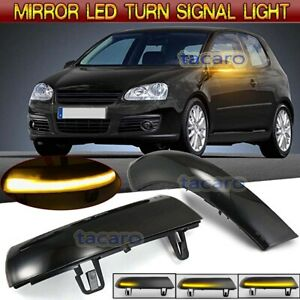 Led Rear View Mirror Indicator Dynamic Turn Signal Light For Vw Golf 5 Jetta Mk5