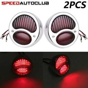 2x Model A Stop Taillight Tail Brake Light Lamp For Rat Rod Truck Ford 1928 1931