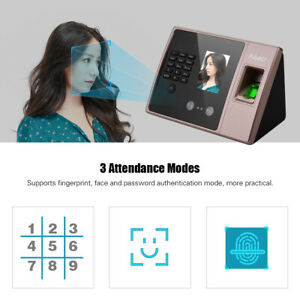 Biometric Id Card Face Time Attendance Machine Equipment Employee Us Ship Z0h2