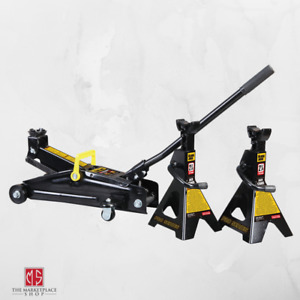 Hydraulic Floor Jack Trolley Jack 2 25 Tons Capacity And 2 Jack Stands Bundle