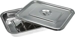 Stainless Steel Surgical Instrument Tray With Lid 18 X 12 X 2
