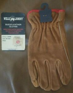 Wells Lamont Suede Leather Work Gloves Nos