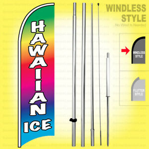 Hawaiian Ice Windless Swooper Flag Kit 15 Tall Feather Banner Sign B h