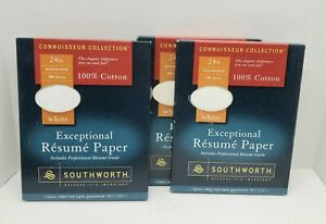 Southworth Exceptional Resume Paper 100 Cotton 3 Opened Boxes
