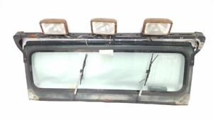 Complete Front Windshield Frame With Light Bar And Wipers Oem 1993 Jeep Wrangler