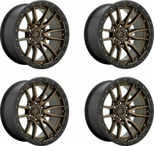 Set 4 20 Fuel D681 Rebel 20x9 Bronze Black Ring 5x150 Wheels 1mm Truck Rims