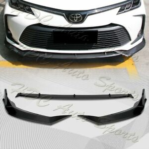 For 2019 2020 Toyota Corolla Carbon Look Front Bumper Body Kit Spoiler Lip 3pcs