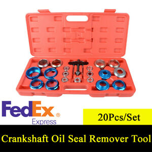 20pcs Carbon Steel Car Camshaft Crank Crankshaft Oil Seal Remover installer Tool