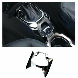 Black Steel Central Console Electronic Handbrake Trim For Jeep Renegade 15 2020