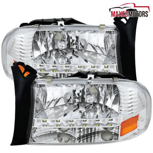 For 1997 2003 Dodge Durango Dakota 1pc Style Headlights smd Led Drl Strip
