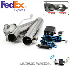 3inch 76mm Stainless Steel Electric Exhaust Control E Cut Out Dual Valve Remote