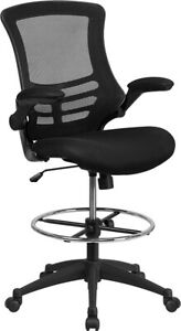 Heavy Duty Big Tall Mesh Back Swivel Tilt Home Office Drafting Clerk Stool Chair