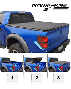 Soft Tri Fold Tonneau Cover For 2015 2020 Gmc Canyon 5ft Bed