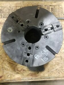 Buck 15 3 jaw Lathe Chuck L 2 Mounting Plate used
