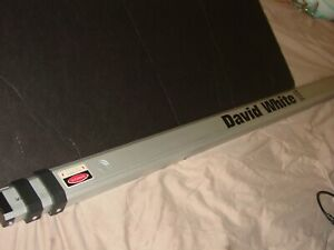 David White Model 7703 Telescoping 9 Ft Rod Measuring Aluminum Extension Level