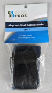 Airplane Seat Belt Extender Pros Type A Black E4 Safety Certified Adds Up To 24