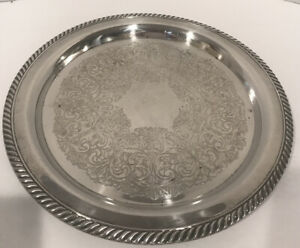 Vintage Wm A Rogers By Oneida Silverplate 12 1 2 Serving Tray