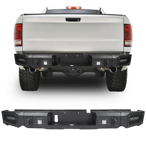 Steel Step Guard Rear Bumper Assembly Fits Dodge Ram 1500 2013 2018 Textured