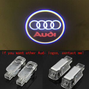 4x Laser Led Hd Logo Door Lamps Puddle Courtesy Projector Shadow Light For Audi