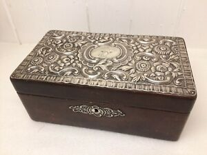 Stunning Vintage Leather And Silver Cigar Box By Pedro Duran