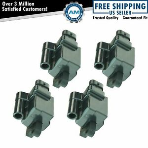 Square Ignition Coil Set Of 4 For Gmc Cadillac Chevrolet Sierra Tahoe H2 Pickup