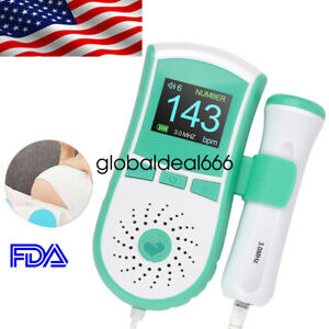 Usa Ship Lcd Pocket Fetal Doppler Prenatal Heart Baby Heart Monitor 3mhz