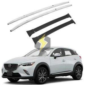 Us 4p Roof Rail Rack Cross Bar For Mazda Cx 3 Cx3 2017 2021 Cargo Durable