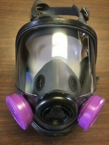 North Honeywell 54001 Full Face Respirator New With Particluate Cartridges