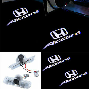2x Led Light Door Projector Ghost White Logo Emblem Kit For Honda Accord 2003 12
