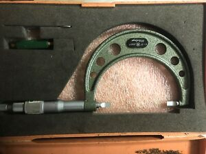 Mitutoyo 122 127 2 3 Blm 3 V Blade Micrometer With Ratchet Stop