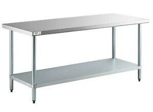 Commercial Restaurant 18 Gauge Home Nsf 30 X 72 Stainless Steel Work Prep Table