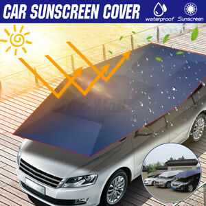 Portable Car Sun Shelter Umbrella Tent Roof Cover Extra Large Uv Oxford